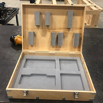 UT Box with Hardware and Custom Foam Dunnage